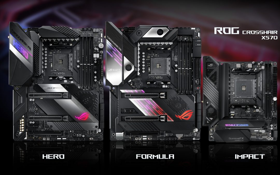 打造AMD X570黑精品主機板 – ROG CROSSHAIR SERIES