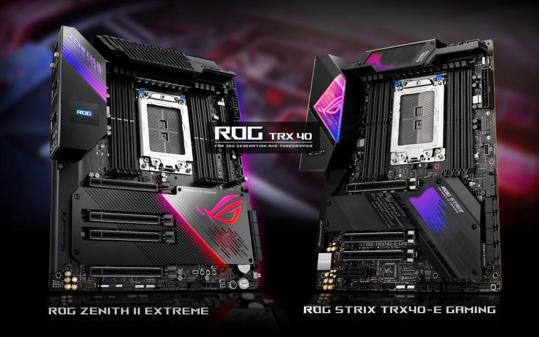帥度與效能不容小覷的AMD TRX40 系列: ROG ZENITH II EXTREME & ROG STRIX TRX40-E GAMING