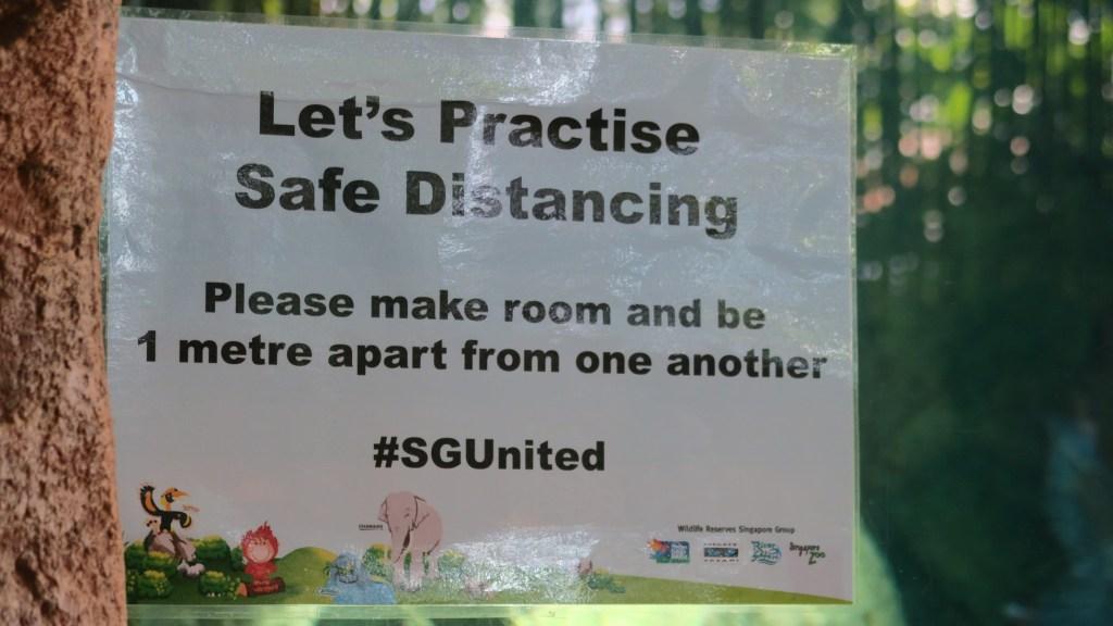 Safe distancing reminder for River Safari visitors