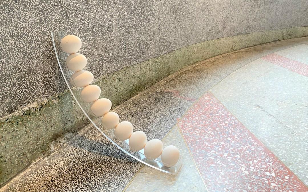 寧靜之間的不定感《蛋架發表免責聲明2.0》陳亮融個展